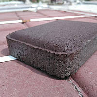 Тротуарная плитка МЕГАБРУК Старый город 25мм коричневый