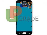 Дисплей для Samsung A800F Dual Sim Galaxy A8 (2015) + тачскрин, черный, Midnight Black, OLED, копия хорошего качества