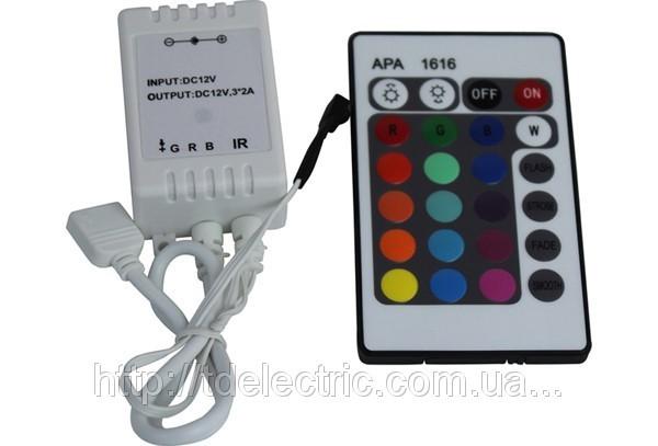RGB-контроллер (12V, 72W, IR-ДУ, 24 кнопки)