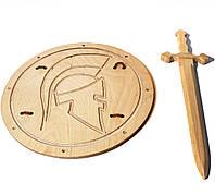 Рыцарский мечВикинга 68 см со щитом Римский 40 см, фото 1