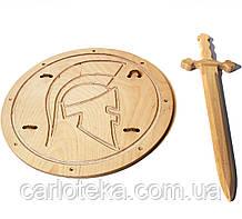 Рыцарский мечВикинга 68 см со щитом Римский 40 см
