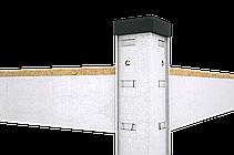 Стеллаж Бюджет (2000х1000х400) оцинкованный на зацепах, 5 полок, ДСП, 175 кг/полка, фото 2