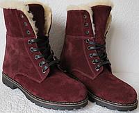 Зимние стильные замшевые женские сапоги ботинки на шнуровке  Timberland, фото 1