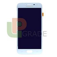 Дисплей для Samsung J250F Galaxy J2 (2018) + тачскрин, голубой, OLED, копия хорошего качества