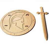 Рыцарский мечВикинга 54 см со щитом Римский 40 см, фото 1