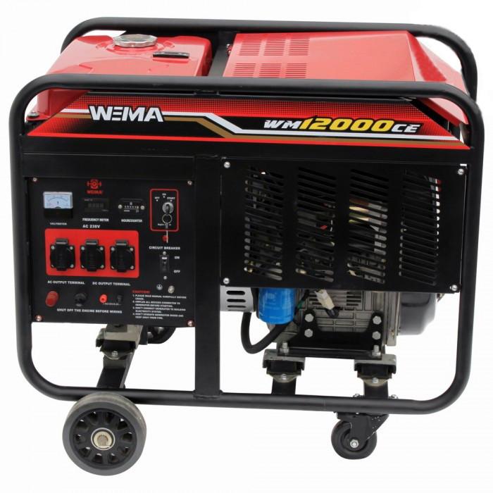 Дизельный генератор Weima WM 12000CE1 (12 КВТ, 1 ФАЗА, ЭЛЕКТРОСТАРТЕР) Бесплатная доставка !!!