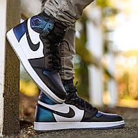 "Кроссовки Nike Air Jordan 1 Retro High OG All-Star ""Black/White/Blue"" (Черные/Белые/Синие)"