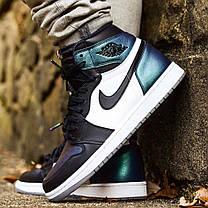 "Кроссовки Nike Air Jordan 1 Retro High OG All-Star ""Black/White/Blue"" (Черные/Белые/Синие), фото 2"