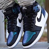 "Кроссовки Nike Air Jordan 1 Retro High OG All-Star ""Black/White/Blue"" (Черные/Белые/Синие), фото 3"