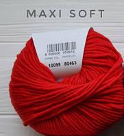 Пряжа Maxi Soft Красный