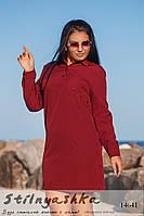 Стильная туника большого размера бордо, фото 1