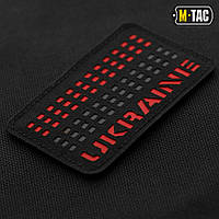 M-TAC НАШИВКА UKRAINE LASER CUT RED/BLACK/BLACK, фото 1