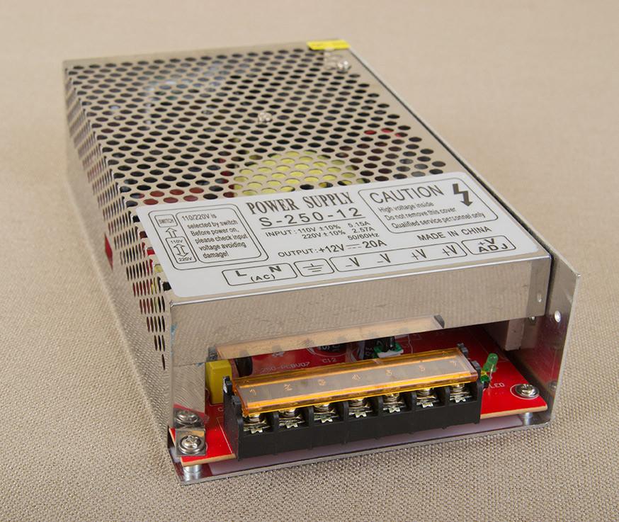 Dilux - Блок питания негерметичный 240Вт, 12В, 20А, Премиум класс, гарантия 2года