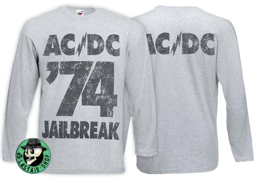 Футболка длинный рукав AC/DC 74 Jailbreak серая