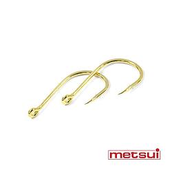 Крючки metsui ISEAMA цвет gold, размер № 10, в уп. 12 шт.