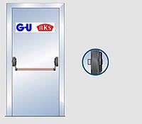 Антипаника G-U для одной створки, 1-но точечное запирание.