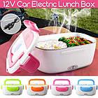 Автомобильный ланч-бокс Electronic Lunchbox с подогревом 12V, цвет розовый