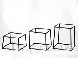 SET R3 Kube набор из 3-х подставок, белый/черный/снег/ночь