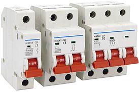 Автоматический выключатель серии HIBD 6кА кривая характеристика С