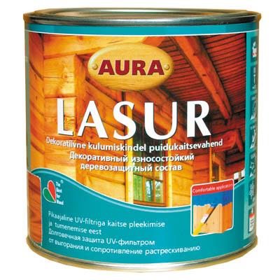 Лак алкидный Aura Lasur бесцветный 0,7 л
