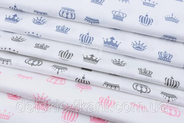 Графитовые короны на белом