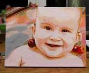 Нарисуй портрет своего малыша с картиной по номерам!