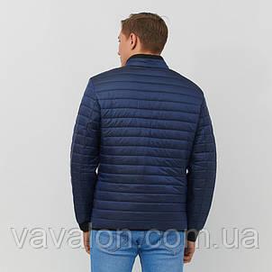 Куртка под резинку в один шов синяя, фото 2