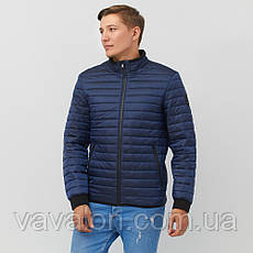 Куртка под резинку в один шов синяя, фото 3