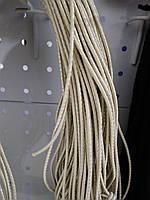 Резинка шляпная 2,5мм люрекс цв бежевый с серебром (уп 100м) Ф