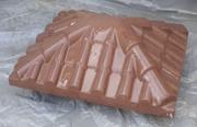 Крышка на столб забора «Черепиця».Цвет:коричневый. Размер, мм – 450х530