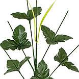 Ножка букетная 7-ка с листом,44 см, фото 2