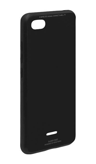 "Накладка Xiaomi Redmi 6a ""Glass Case"" Черная"