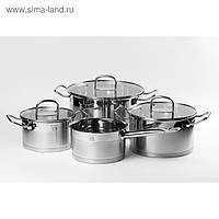 Набор посуды CS HERTEN, 7 предметов, нержавеющая сталь