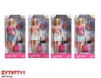 Кукла DEFA 30см 8377 с аксес.4цв.кор.32*5*15 /48/(8377)