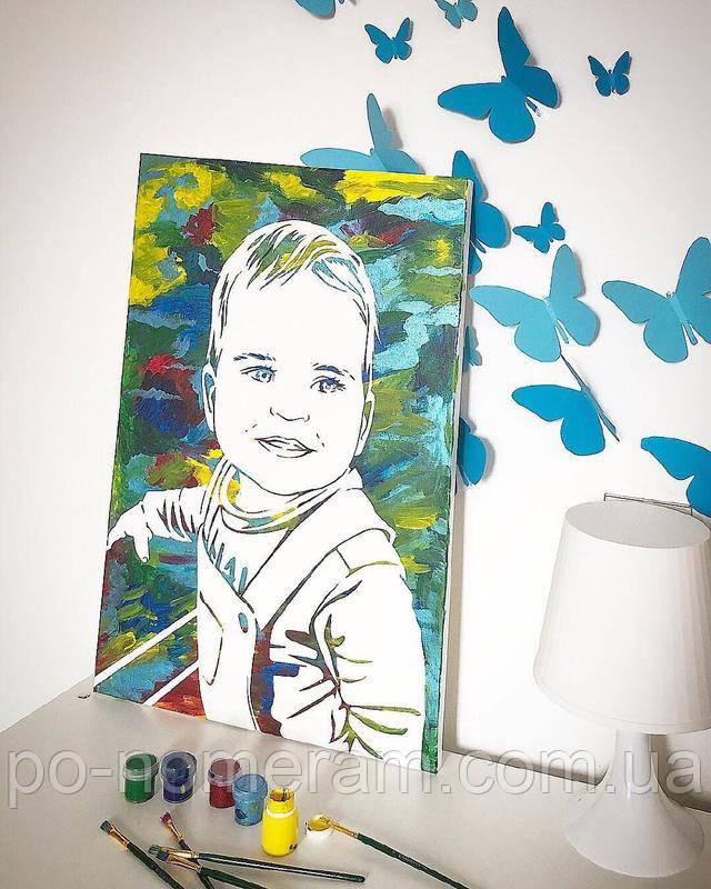 Портрет ребенка своими руками- техника флип-флоп