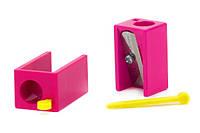 Одинарная точилка для косметических карандашей (pink)