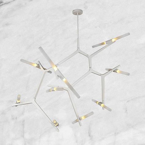 Белая люстра на 18 ламп, фото 2