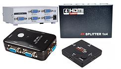 03-01-000. Свичи и сплитера HDMI, VGA, BNC
