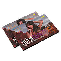 Палетка теней для век Huda Beauty Textured Shadows Palette Rose gold edition