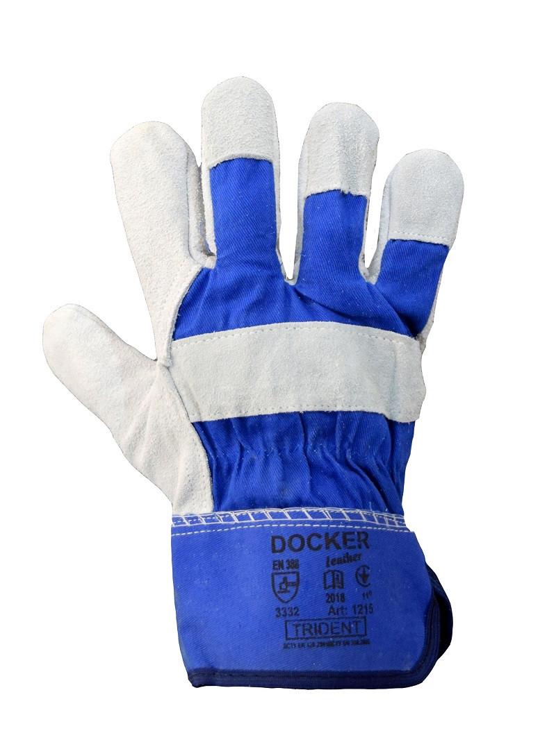 Перчатки с натуральной спилковой кожи DOCKER