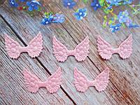 """Патчи """"Крылышки ангела"""", цвет нежно-розовый, 50х35 мм, 1 шт."""