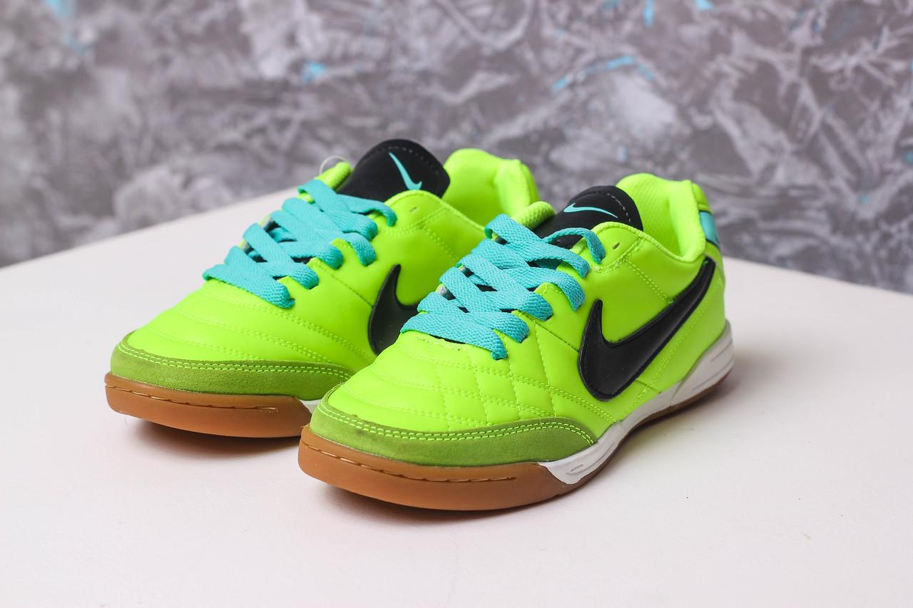 Футзалки Детские Nike Tiempo 37 Салатовые ae939879fe