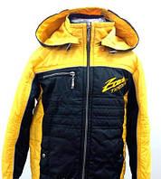 Куртка-ветровка желто-черная на 1,2,3,4 года S146