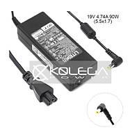 Зарядное для ноутбука Acer K-Power (19V/4.74A/90W/5.5x1.7мм) + кабель питания 1.2м