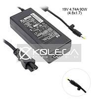 Зарядное для ноута HP K-Power (19V/4.74A/90W/4.8x1.7мм) + кабель