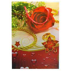 Пакеты Подарочные Пластиковые с Розами HL-E614 17 см * 12 см * 5,5 см (малый)