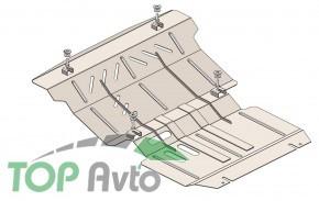 Кольчуга Захист двигуна, радіатора і редуктора Mitsubishi Pajero Sport 2015-