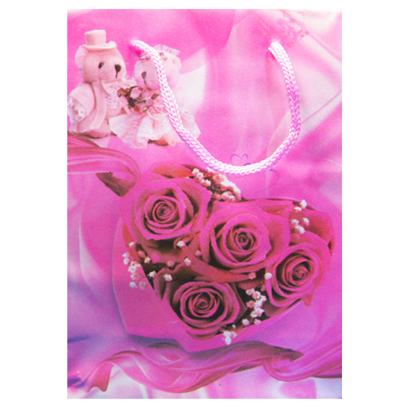 Пакеты Подарочные Пластиковые с Розами HL-E620 17 см * 12 см * 5,5 см (малый)