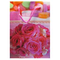 Пакеты Подарочные Пластиковые с Розами HL-E621 17 см * 12 см * 5,5 см (малый)