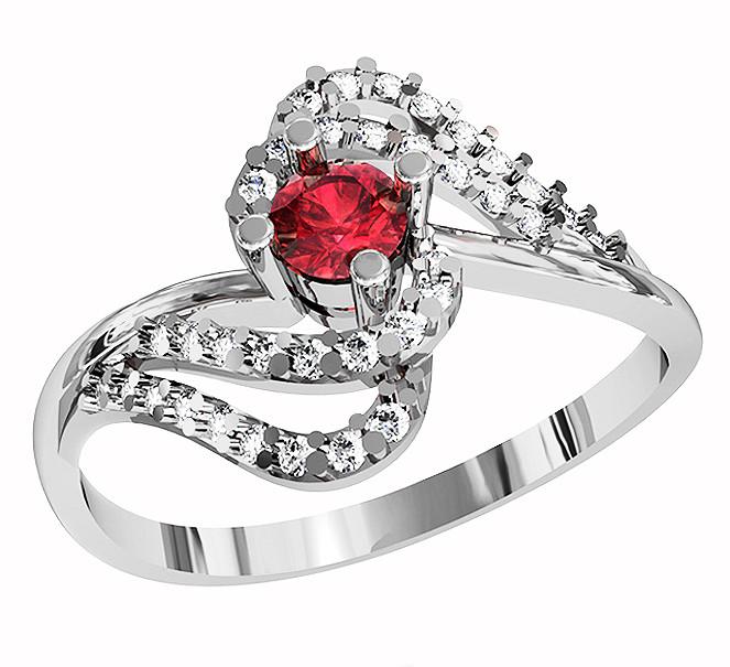 Кольцо  женское серебряное Ruby Dawn  212 400